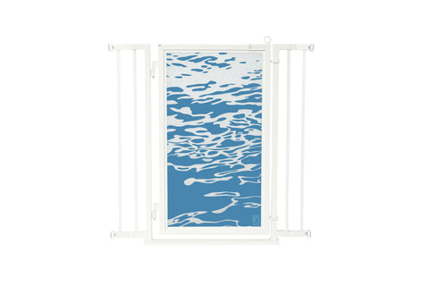 "32"" - 36"" Healing Waters Fusion Gate, White Pearl Finish"