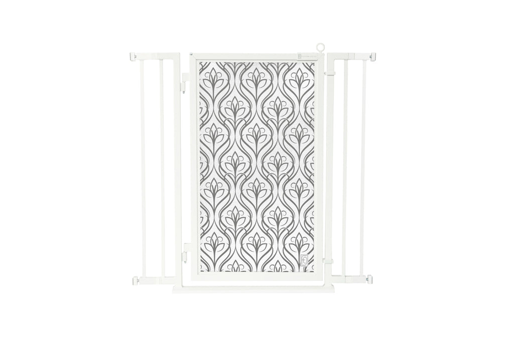 "32"" - 36"" Satin Harvest Fusion Gate, White Pearl Finish"