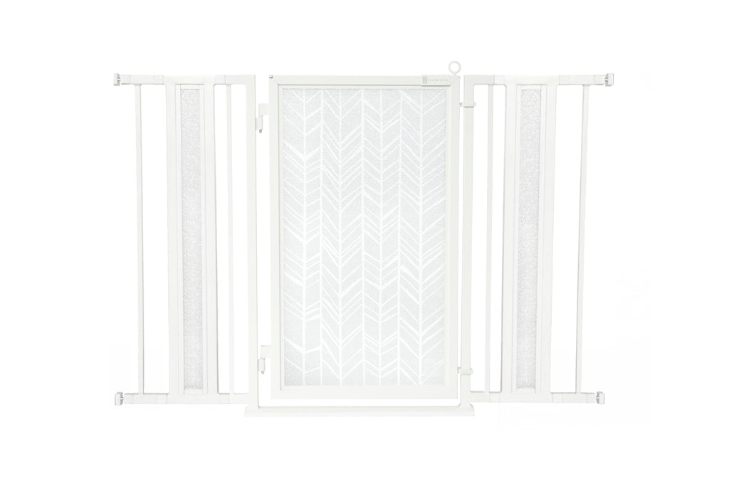 "36"" - 52"" Chevron Trail in White Fusion Gate, White Pearl Finish"