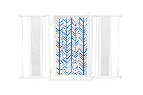 "52"" - 60"" Chevron Trail in Blue Fusion Gate, White Pearl Finish"