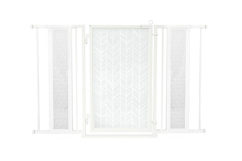 "52"" - 60"" Modern Lines Fusion Gate, White Pearl Finish"