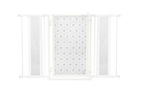 "52"" - 60"" Linear Lace Fusion Gate, White Pearl Finish"