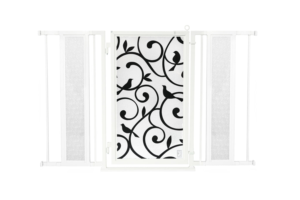 "52"" - 60"" Songbirds Fusion Gate, White Pearl Finish"
