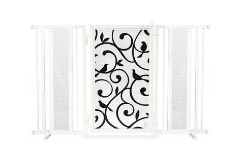 "60"" - 65"" Songbirds Fusion Gate, White Pearl Finish"