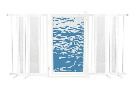 "65"" - 71.5"" Healing Waters Fusion Gate, White Pearl Finish"