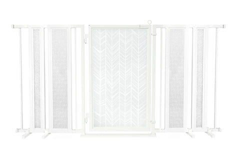 "65"" - 71.5"" DIY Fusion Gate, White Pearl Finish"