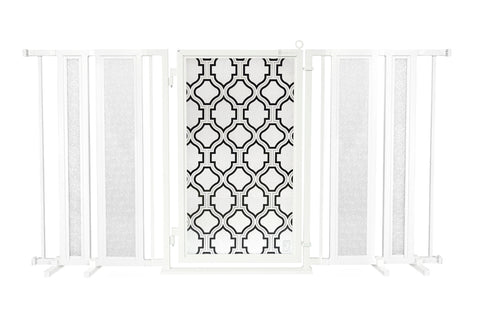 "65"" - 71.5"" Trellis Fusion Gate, White Pearl Finish"