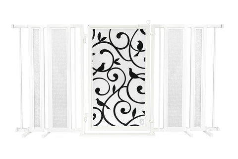 "65"" - 71.5"" Songbirds Fusion Gate, White Pearl Finish"