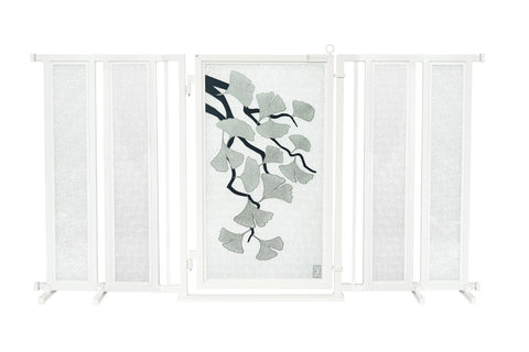"71.5"" - 74"" Ginkgo in Platinum Fusion Gate, White Pearl Finish"