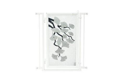 "32"" - 34"" Ginkgo in Platinum Fusion Gate, White Pearl Finish"