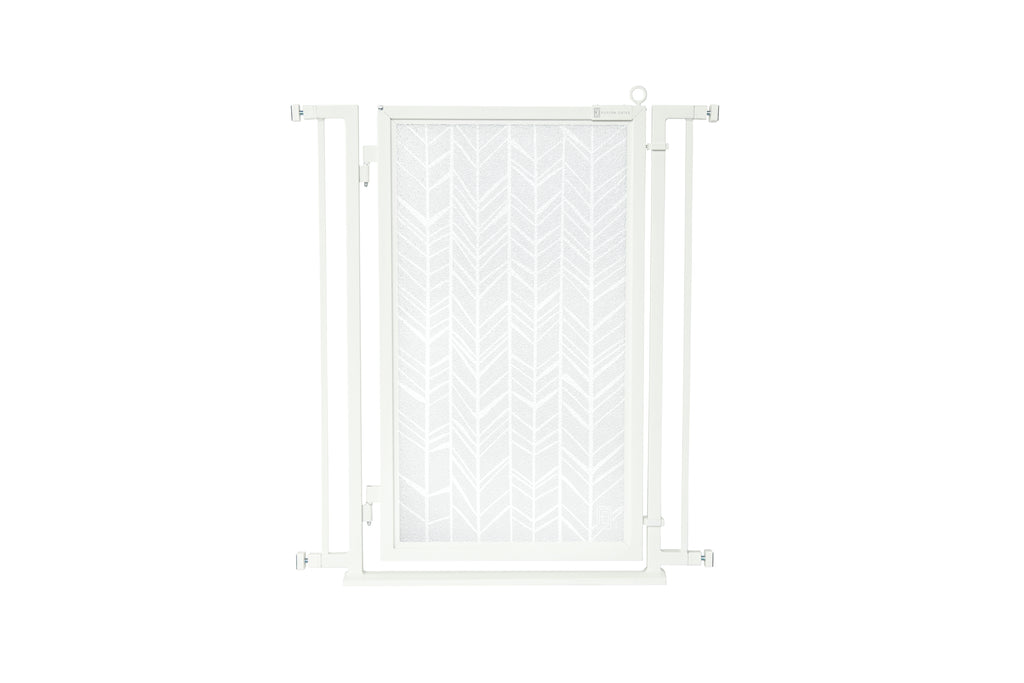 "32"" - 34"" Chevron Trail in White Fusion Gate, White Pearl Finish"