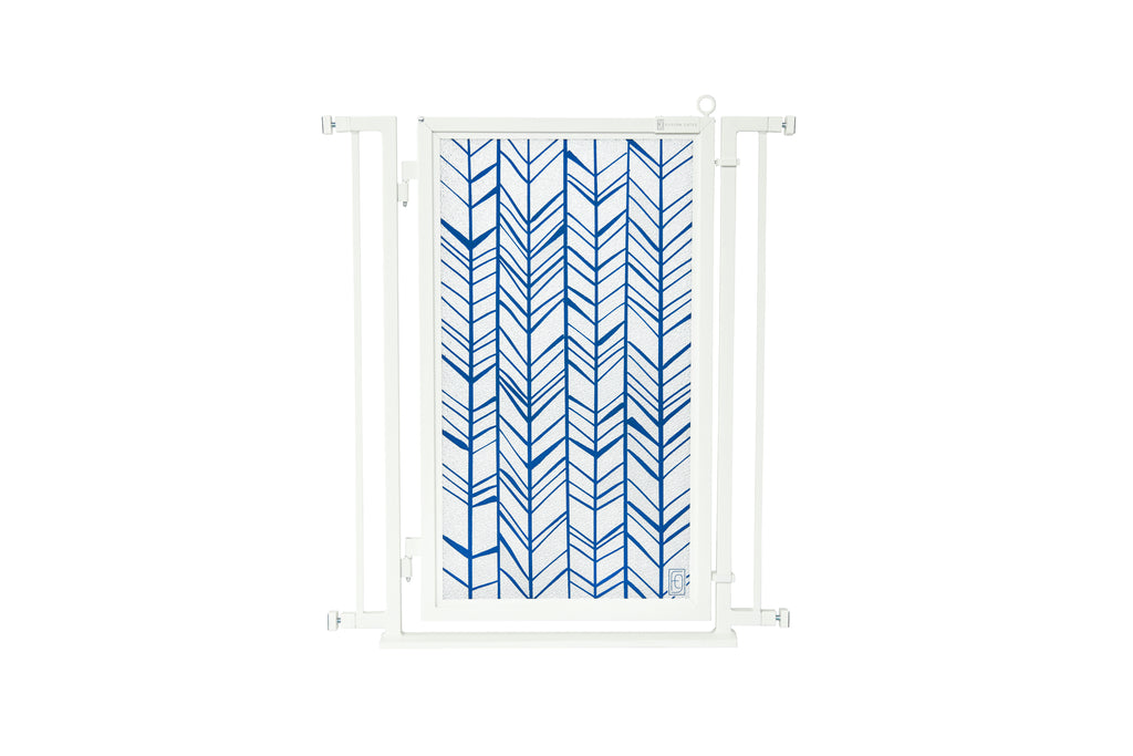 "32"" - 34"" Chevron Trail in Blue Fusion Gate, White Pearl Finish"
