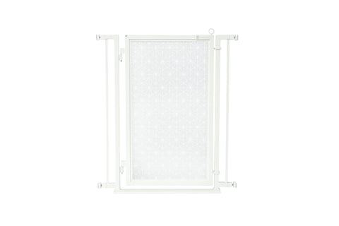 "32"" - 34"" Linear Lace in White Fusion Gate, White Pearl Finish"