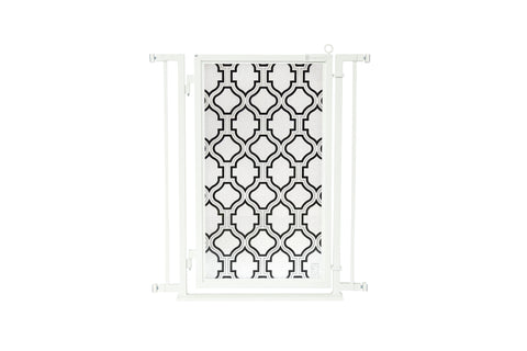 "32"" - 34"" Trellis Fusion Gate, White Pearl Finish"
