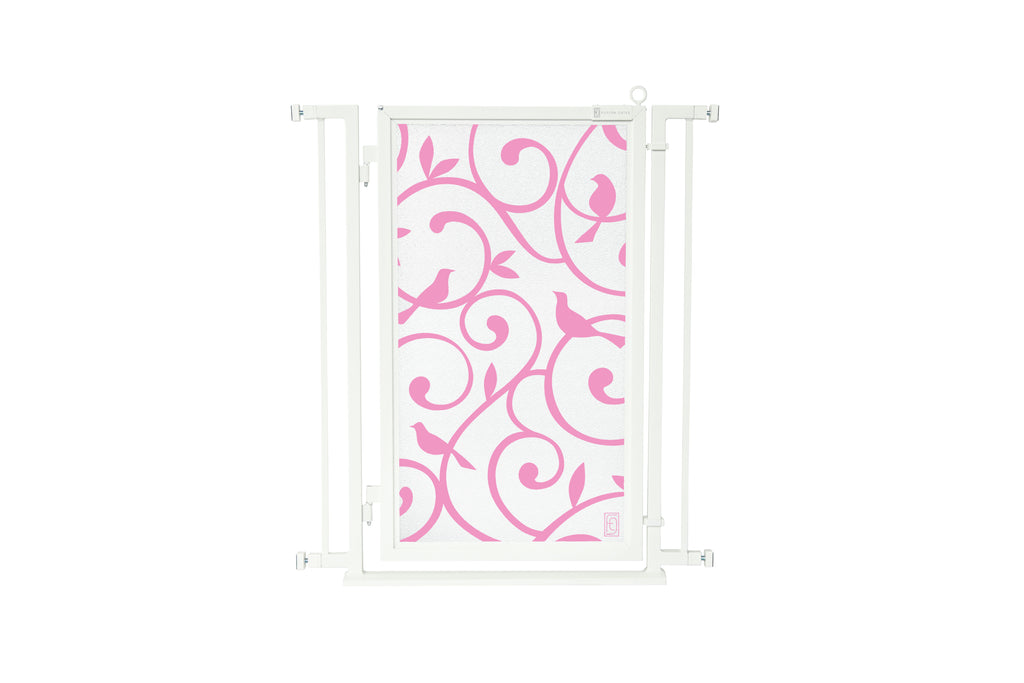 "32"" - 34"" Songbirds in Pink Fusion Gate, White Pearl Finish"
