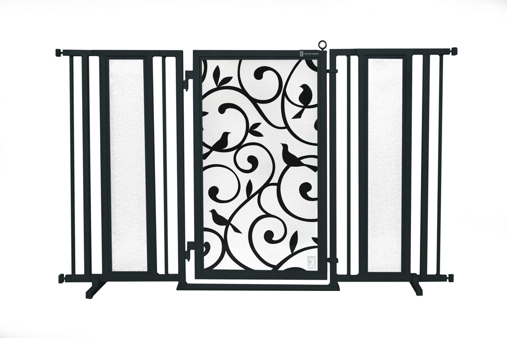 "60"" - 65"" Songbirds Fusion Gate, Black Finish"