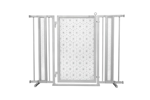 "36"" - 52"" Linear Lace Fusion Gate, Satin Nickel Finish"