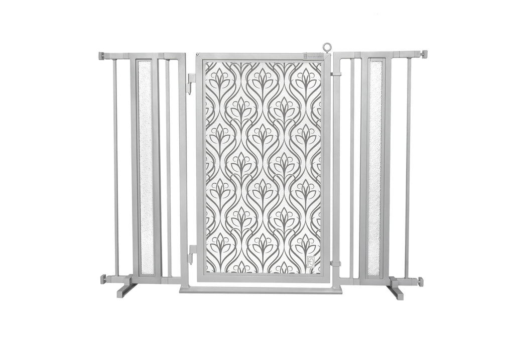 "36"" - 52"" Satin Harvest Fusion Gate, Satin Nickel Finish"