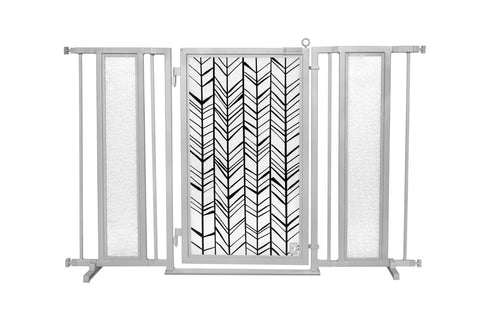 "52"" - 60"" Chevron Trail Fusion Gate, Satin Nickel Finish"