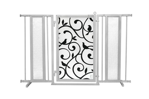 "52"" - 60"" Songbirds Fusion Gate, Satin Nickel Finish"