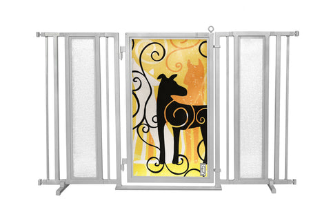 "60"" - 65"" Limited Edition Dream Dog, Satin Nickel Finish"