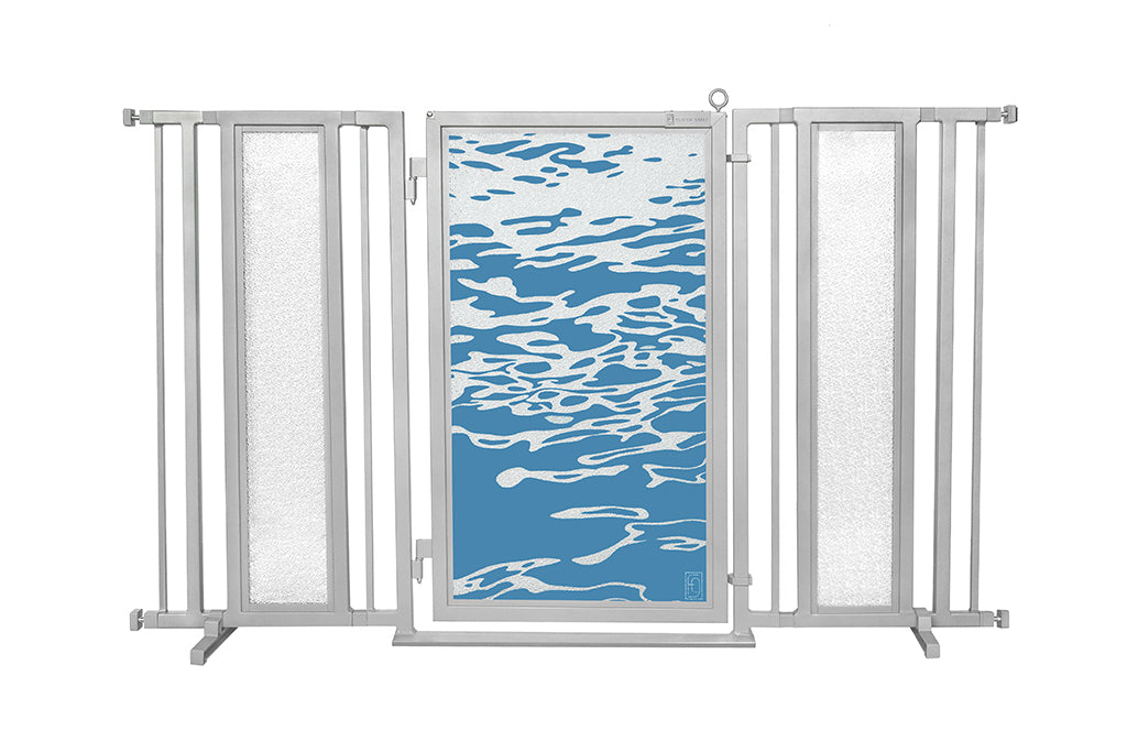 "60"" - 65"" Healing Waters Fusion Gate, Satin Nickel Finish"