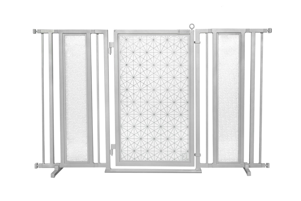 "60"" - 65"" Linear Lace Fusion Gate, Satin Nickel Finish"