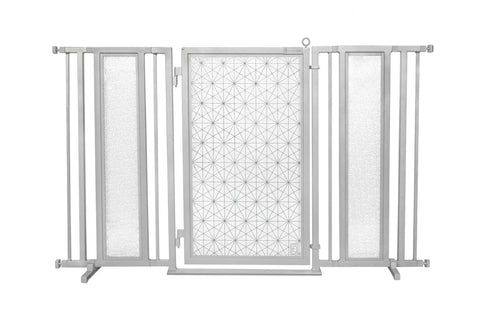 "60"" - 65"" Autumn Ginkgo Fusion Gate, Black Finish"