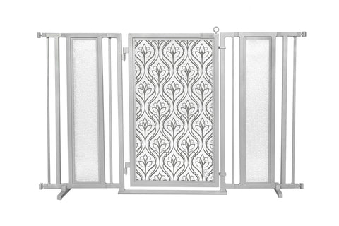 "60"" - 65"" Satin Harvest Fusion Gate, Satin Nickel Finish"