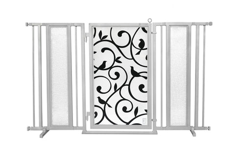 "60"" - 65"" Songbirds Fusion Gate, Satin Nickel Finish"