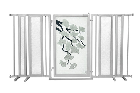 "65"" - 71.5"" Ginkgo in Platinum Fusion Gate, Satin Nickel Finish"