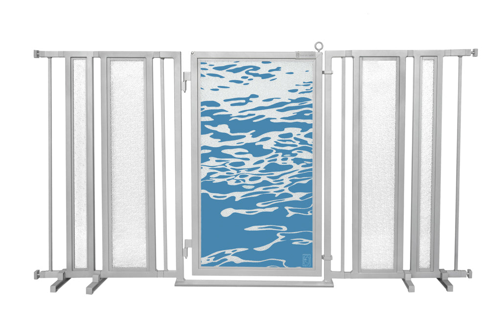"65"" - 71.5"" Healing Waters Fusion Gate, Satin Nickel Finish"