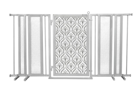 "65"" - 71.5"" Satin Harvest Fusion Gate, Satin Nickel Finish"