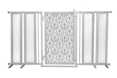 "71.5"" - 74"" Satin Harvest Fusion Gate, Satin Nickel Finish"