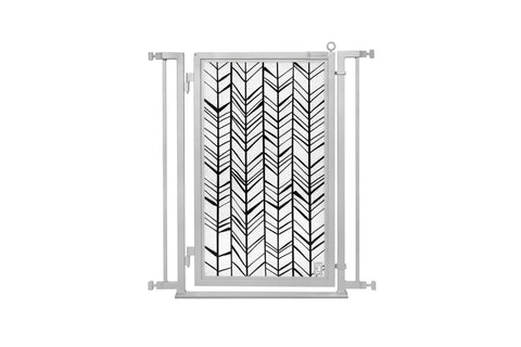 "32"" - 34"" Chevron Trail Fusion Gate, Satin Nickel Finish"