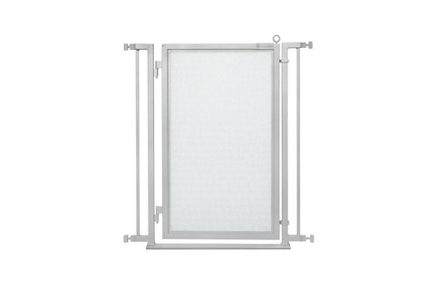 "32"" - 34"" Modern Lines Fusion Gate, White Pearl Finish"