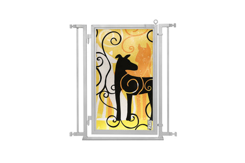 "32"" - 34"" Limited Edition Dream Dog Fusion Gate, Satin Nickel Finish"