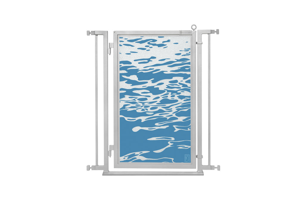 "32"" - 34"" Healing Waters Fusion Gate, Satin Nickel Finish"