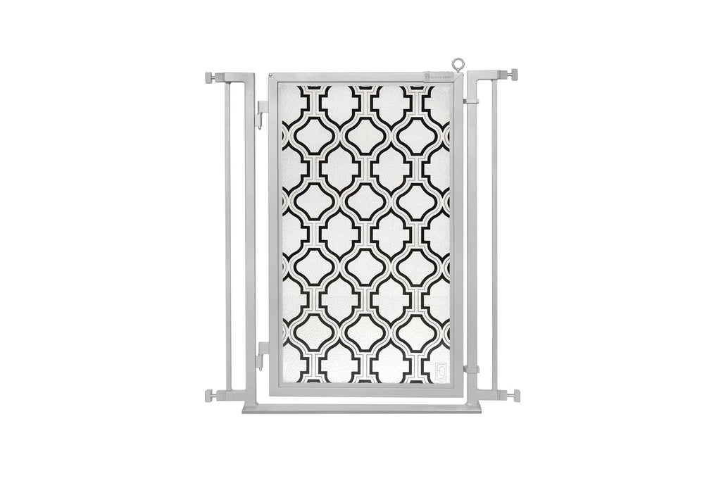 "32"" - 34"" Trellis Fusion Gate, Satin Nickel Finish"