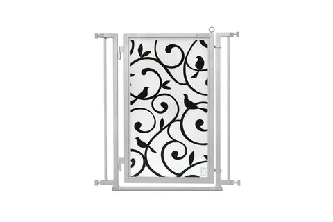 "32"" - 34"" Songbirds Fusion Gate, Satin Nickel Finish"