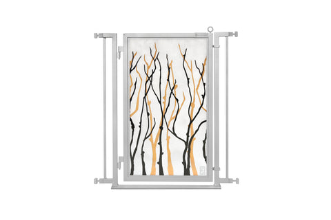 "32"" - 34"" Willow Branches Fusion Gate, Satin Nickel"