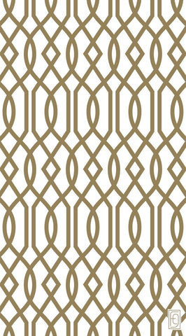 Fusion Gates Baby & Pet Screen Only - Gold Lattice