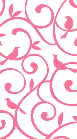 Fusion Gates Baby & Pet Screen Only - Songbirds in Pink