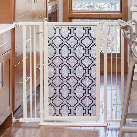 Fusion Gates Extra Wide Dog & Baby Gate, Trellis
