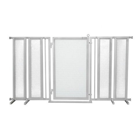 "71.5"" - 74"" DIY Fusion Gate, Satin Nickel Finish"
