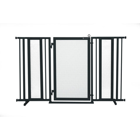 "60"" - 65"" Dog Is My Zen Fusion Gate, Black Finish"