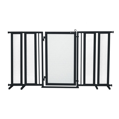 "71.5"" - 74"" Bauhaus Border Fusion Gate, Black Finish"
