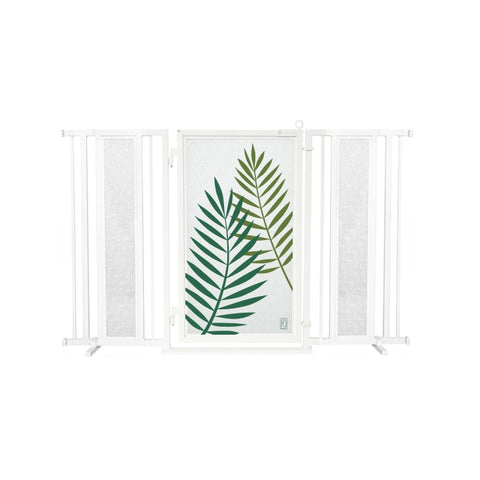 "60"" - 65"" Peaceful Palm Fusion Gate, White Pearl Finish"