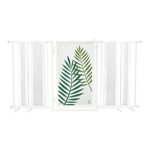 "65"" - 71.5"" Peaceful Palm Fusion Gate, White Pearl Finish"