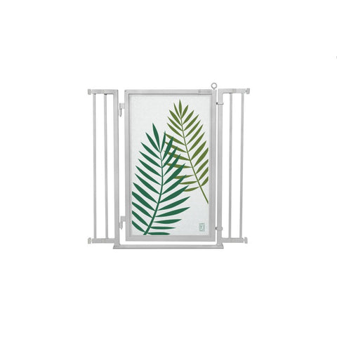 "32"" - 36"" Peaceful Palm Fusion Gate, Satin Nickel Finish"